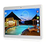Yuntab K107 Android 5.1 10.1 Inch Tablet PC with SIM card 800*1280 IPS MT6580 Quad Core Bluetooth 4.0 Dual Camera 0.3 and 2.0 MP 1G+16G Tablet (White)