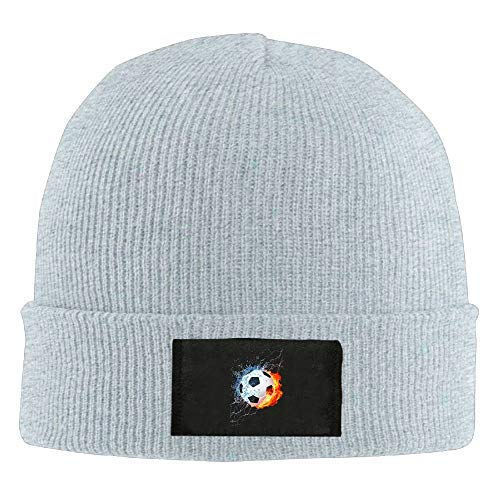 Unisex Chinese Blue and White Porcelain Style Elastic Knitted Beanie Cap Winter Outdoor Warm Skull Hats Running