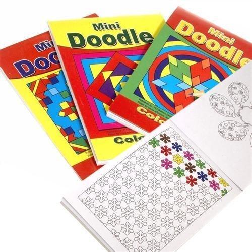 Mini A6 Doodle Aufgaben Bücher - Muster Malen - Kinder Party Geschenk 12x (Muster Färbung Bücher)
