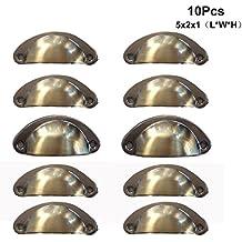 pyhot 10piezas para armario de cocina para puerta de armario, armario, cajón, muebles, tirador bronce 50x 20x 10mm