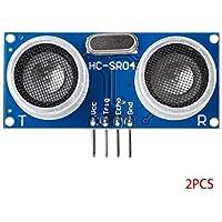 Bobury Sensor de medición 2 Piezas de HC-SR04P 3-5.5V Distancia Módulos electrónicos compatibles para Arduino