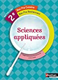 Sciences appliquées 2e Bac pro Cuisine et Restaurant