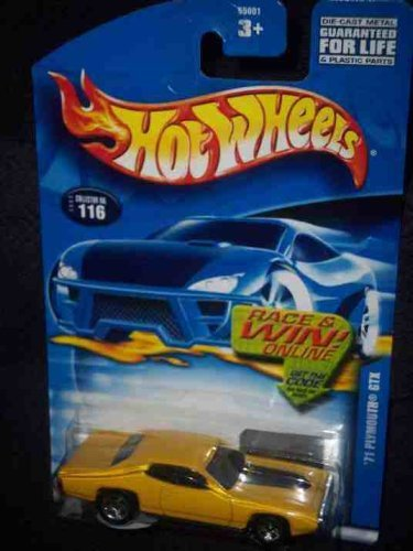 #2002-116 1971 Plymouth GTX Collectible Collector Car Mattel Hot Wheels