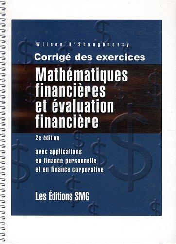 Mathématiques financières et évaluation financi...