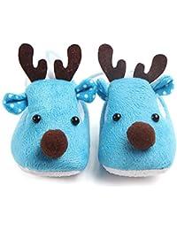 LanLan Zapatos de niños, Calzados/Zapatillas/Sandalias de niños Cute Elk Design Baby Soft Soft Sole Fleece Shoes otoño Invierno