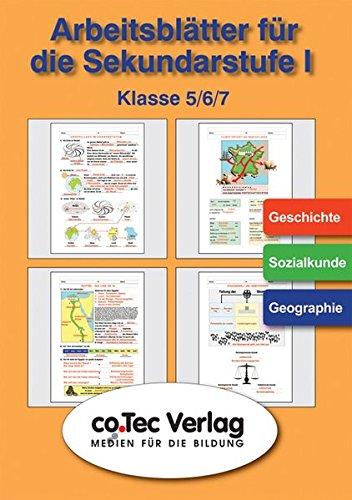 Arbeits- und Übungsblätter Geschichte /Sozialkunde /Geographie Klasse 5 -7.CD-ROM. (Lernmaterialien)