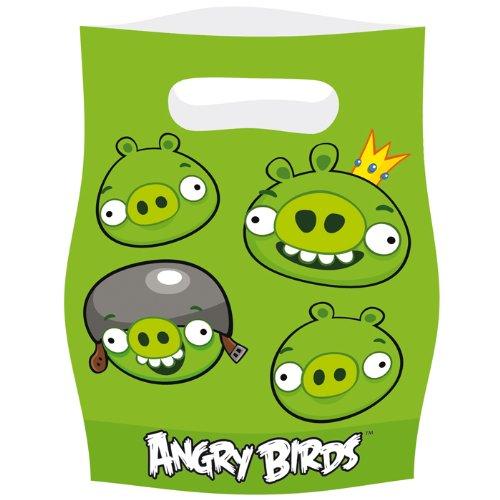 PARTY DISCOUNT Geschenktüte Angry Birds 6 Stk.