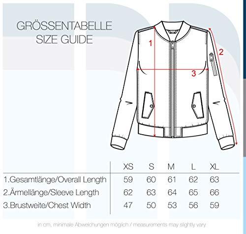 DESIRES Temari Damen Bomberjacke Übergangsjacke Jacke mit Stehkragen, Größe:XS, Farbe:Black (9000) - 6
