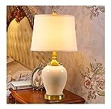 THOR-YAN Tischlampe Amerikanische Keramik Schlafzimmer Nachttischlampe Schreibtischlampe Jingdezhen Neue Wohnzimmer Studie Europäischen Minimalist -6541Schreibtischlampen