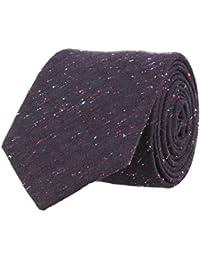 OTTO KERN Klassische Krawatte Schwarz 7 cm