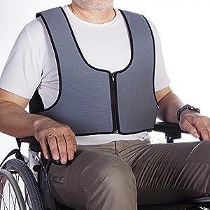 Fixierweste mit Reißverschluss, Stabilisierung des Oberkörpers im Rollstuhl, Größe 1: 64-138 cm
