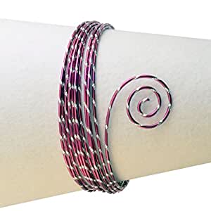 Vaessen creative fil aluminium ciselé - 2mm x 5m - rose
