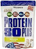Weider Protein 80 Plus Beutel 2er Pack, Banane, 2 x 500 g (1 x 1 kg)