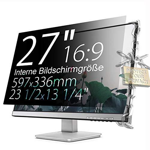 Xianan Schutz der Privatsphäre - 27 zoll 16:9 Seitenverhältnis Blickschutzfilter Blickschutzfolie Bildschirmschutz for Widescreen Computer Monitor - Widescreen-monitor