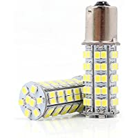 Neuftech 2x T20 Lampadine Luce 1156/Ba15s 68 LED SMD coda freno stop Lampade brake light 12V bianco Auto