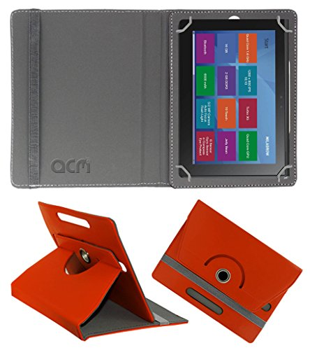 Acm Rotating 360° Leather Flip Case for Milagrow M8 Pro Cover Stand Orange  available at amazon for Rs.189