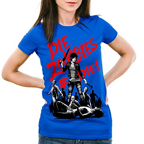 men T-Shirt walking horror dixon the halloween dead, Farbe:Blau;Größe:XS (Top 5 Halloween-horror-filme)
