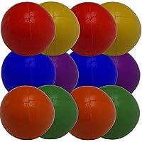 PassePasse Set 12 Malabares Bolas DE 57 mm 70 g Cada uno (de Color Uni 2 Cada uno) Amarillo, Verde, bluered, Naranja