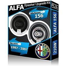 Alfa Romeo 156 puerta delantera altavoces Fli Audio Altavoz para COCHE Kit 210 W
