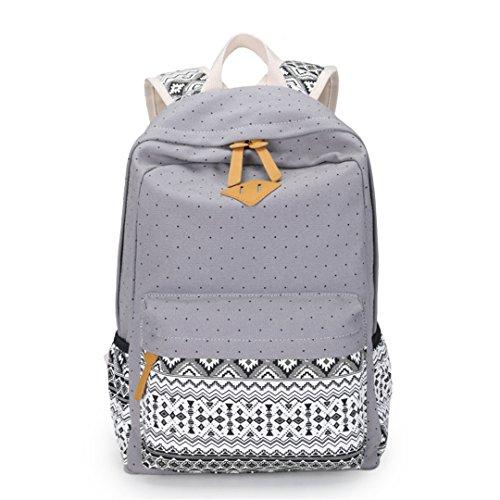 Leinwand drucken Damen Tasche Notebook weiblichen Rucksack jugendlich Schulmädchen Schulranzen (Deuter Packs Travel)