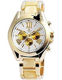 Reloj analógico Timento, de metal, diámetro de 44 mm, negro y oro rosa - 510031000002