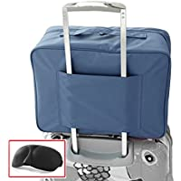 Impermeabile Pernottamento Duffle Bag bagagli di corsa Borsone con carrello manicotto di sacchetto di volo per Holiday Gym Clothes Valigia Organizzatore sacchetto dell'imballaggio con Eye Mask - Nylon Impermeabile Borsone