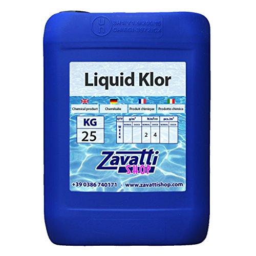Cloro líquido - Liquid Klor producto químico piscina - 25 L