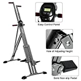 Rocket Bunny® The Unisex Vertical Climbing Fitness Machine (Joint-Friendly Training, Adjustable Height and Armrest, Easy to Store) (Black)