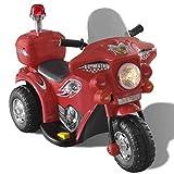 vidaXL Motocyclette enfant à batterie Rouge moto électrique Enfant