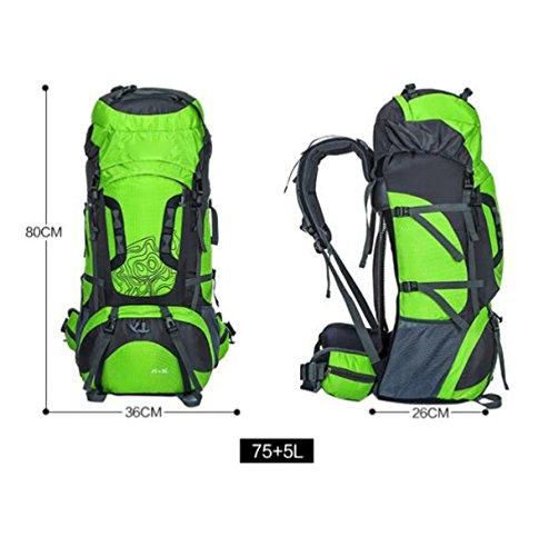 60l Wandern Rucksack Daypack Klettern Reisen Rucksack Casual Bag,Blue Orange