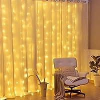 MIAOGO Net LED de Malla 200 Luces, Fondo Caliente LED Blancos al Aire Libre Luces Decorativas Cadena de Novia Tabla Playa Que acampan Luces de la Cortina (Size : 3 * 2m (9.8ft x 6.6ft))