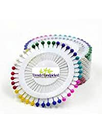 Trendz Handpicked Pack Of 120 Mixed Color Hijab Pins / Scarf Pins