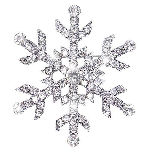 Österreichischen Kristall Winter Schneeflocke Blume Brosche Pin (Schneeflocke-pin)
