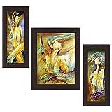 #2: Wens 'Vague Fusion Hues' Wall Art (MDF, 29.5 cm x 24.5 cm, WSP-4241)