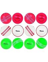 Kosma KG-26194 - Palla da Cricket Unisex, Rosa, Verde, Bianco, Taglia Unica