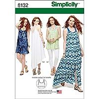 Simplicity 8132 Donna serbatoio vestito tunica maglia e allattamento  cartamodello 9207c148129b
