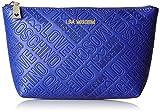 Love Moschino Damen Bustina Embossed Pu Blu Handgelenkstasche, Blau (Blue), 13 x 25 x 7 cm