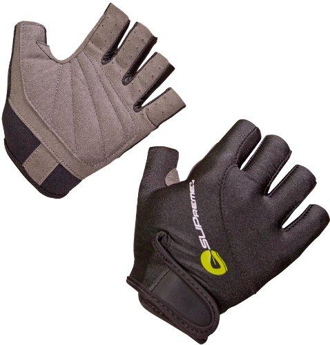 SUPreme Stacked Fingerless Gloves, Black, Large - Standup Paddleboarding, Kayaking & Water Sports