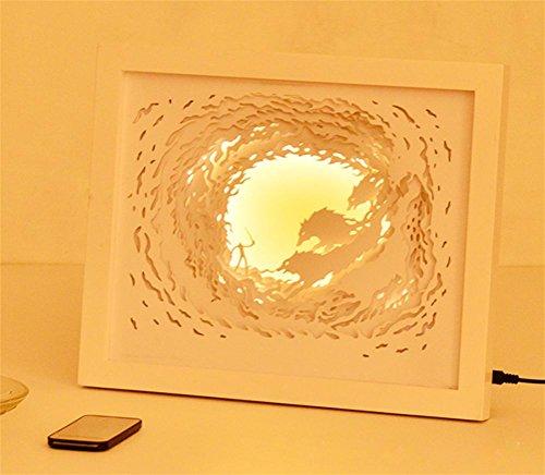 GJY LED BELEUCHTUNGKreatives 3D Stereoskopisches Licht Und Schatten Papier Geschnitzt Kalk Hirsch Papier Schneiden Licht Bett Atmosphäre Lampe Dekoration Tischlampe Nacht Licht Geschenk , (Led Kostüm Licht Baby)