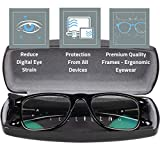 Intellilens® Premium Blue Cut Zero Power Wayfarer Spectacles with Anti-glare for Eye Protection