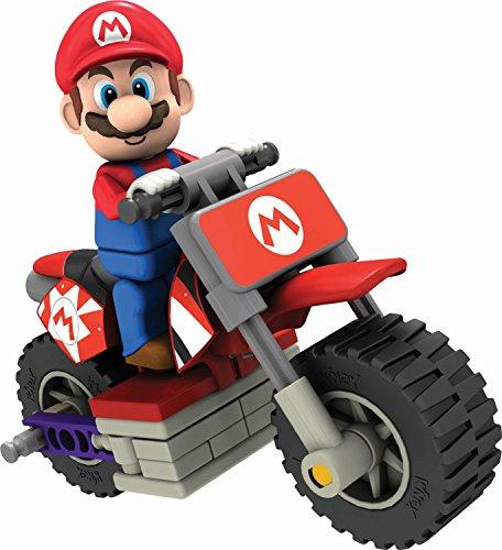 K'Nex 33126L - Mario Kart Luigi mit Bike (Luigi Kart Knex)