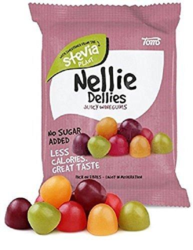 Preisvergleich Produktbild Toms Nellie Dellies Juicy Winegums - Dänisch Zuckerfrei Frucht Weingummi Süßigkeiten 90g x 2 stck