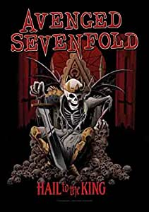 Avenged Sevenfold - Hail to the King - Posterflagge 100% Polyester - 75x110 cm