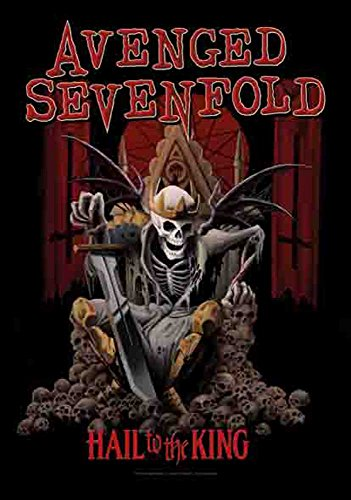 Avenged Sevenfold - Hail to the King - Poster Bandiera 100% poliestere - 75 x 110 cm