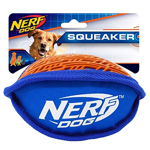 Nerf Dog VP6648E Force Grip Football, 18 cm, rot/blau