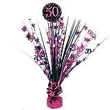Party Parade - Decorazione da Tavolo per 50° Compleanno, Motivo: Feste, Colore: Rosa/Nero/Viola