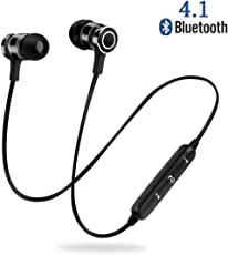Auricolari Bluetooth, NINE CUBE Cuffie magnetiche per lo sport con mic, Wirless Auricolare Bluetooth 4.1, Cuffie Bluetooth IPX4 Sweatproof, APTX e tecnologia Noise CVC 6.0, Suono stereo di qualità superiore (Black)