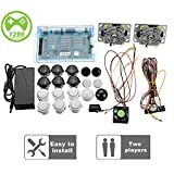 Yang 2 Joystick DIY Kit Bundle casa Famiglia di Pandora Box 5S Arcade Macchina 1299 Giochi Multi-Game Arcade Mobile DIY Kit Arcade Stick, VGA HDMI Set Completo di 2 Giocatori