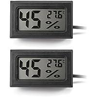 XCSOURCE® Mini 2in1 Pantalla LCD Digital Termómetro Higrómetro con cable de 1,5M Medidor de humedad de temperatura de la sonda Negro BI701
