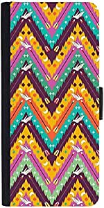 Snoogg Aztec Abstract Designer Protective Phone Flip Case Cover For Samsung Galaxy E5